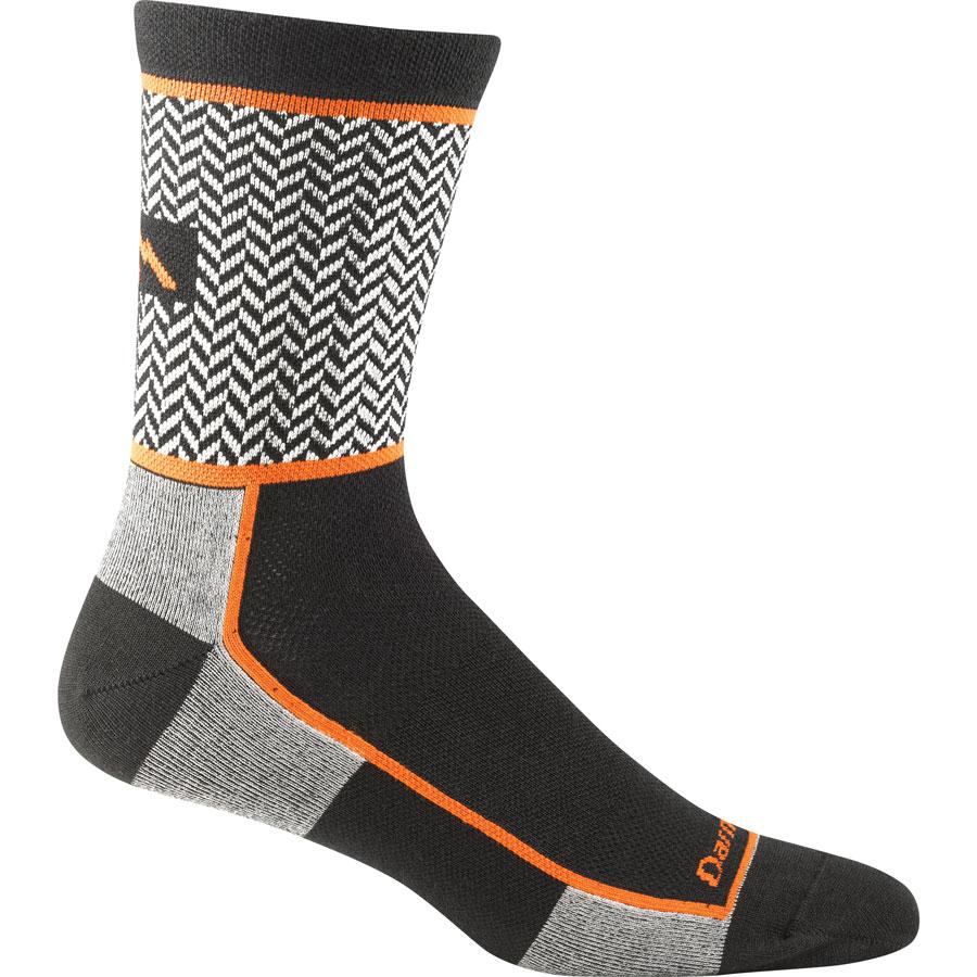 herringbone micro crew sock