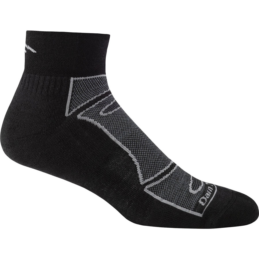 Darn Tough Mens Endurance 1/4 light Cushion black sock