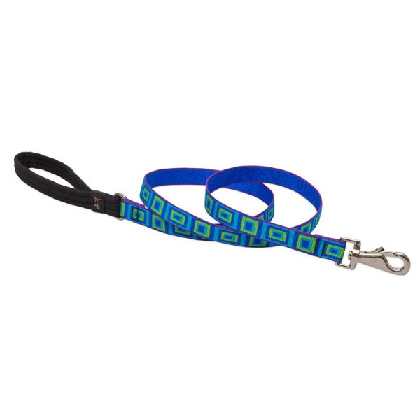 Sea Glass Lupine, leash blue