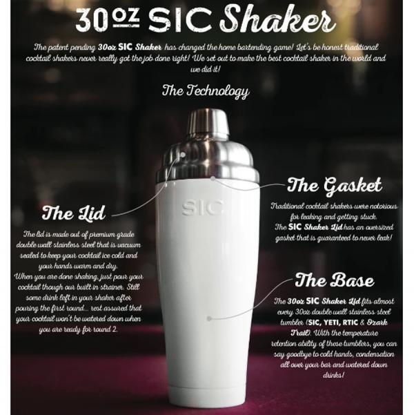 Cocktail shaker details