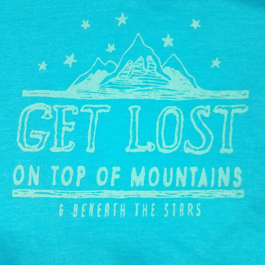 Get Lost On Top of Mountains, t-shirts