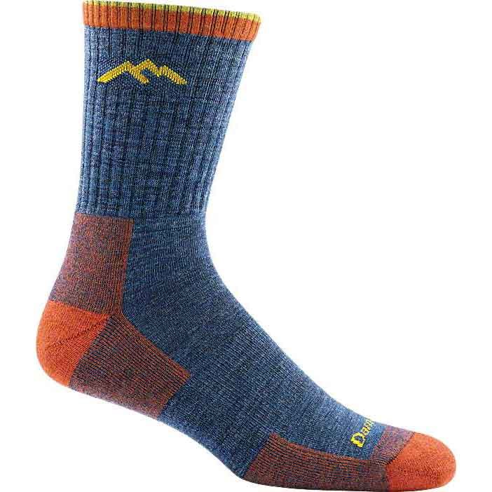 mens Hiker Micro Crew Cushion sock DENIM