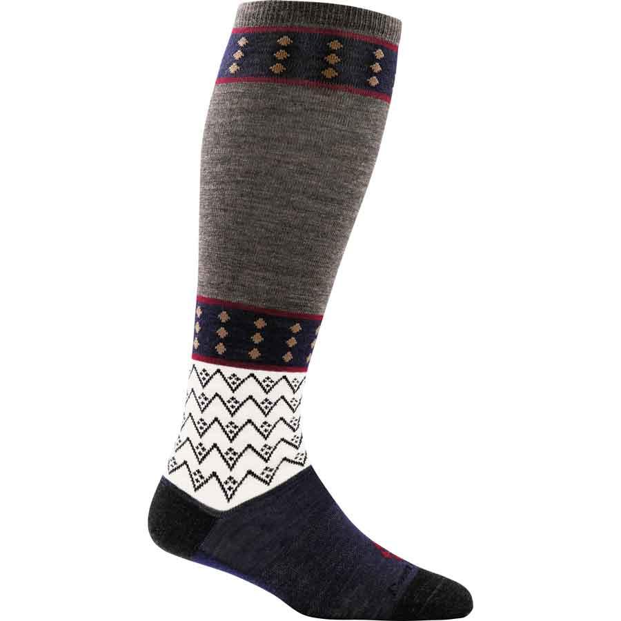 Darn Tough diamonds knee socks taupe
