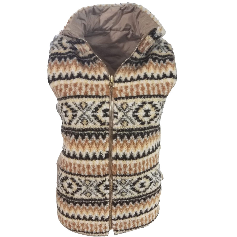 Tribal Vest Mocha/ Black