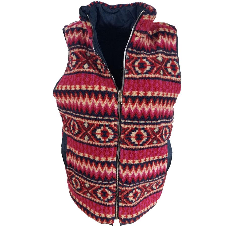 Tribal Vest Red /Navy