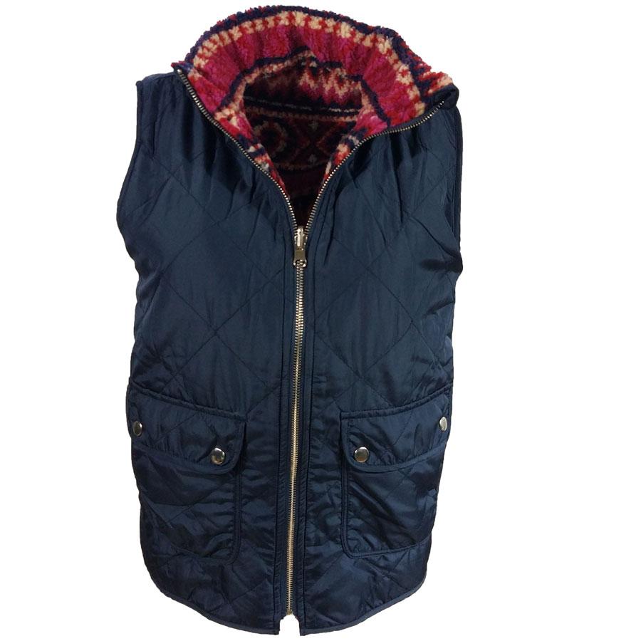 Tribal Vest Red /Navy reversible
