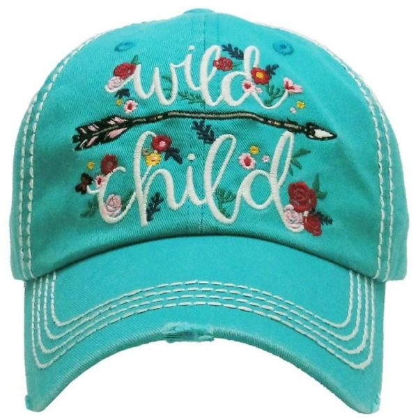 Wild, Child, Turquoise, Womens, Hat