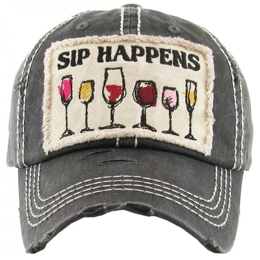 webready-Sip, Happens, Black, Womens, Hat