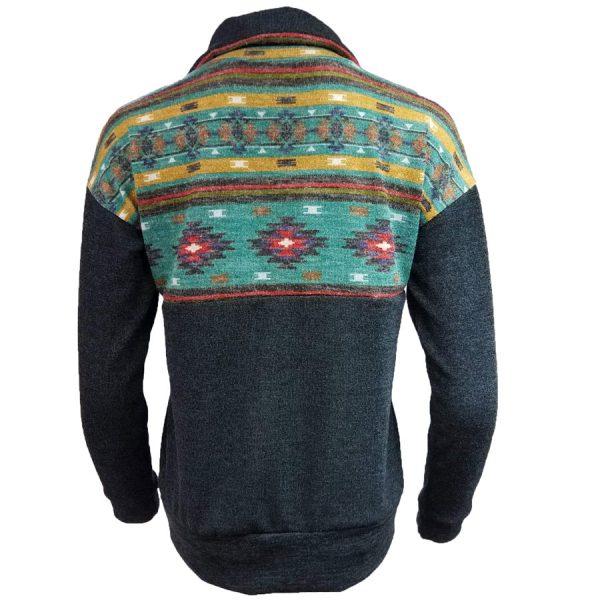 Tribal, color, block, Pullover, zip, zipper, shirt, womens