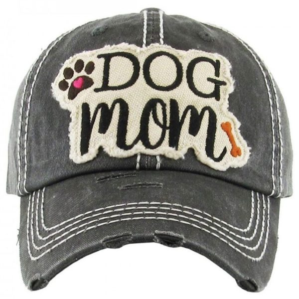 Dog, Mom, Black, Womens, Hat