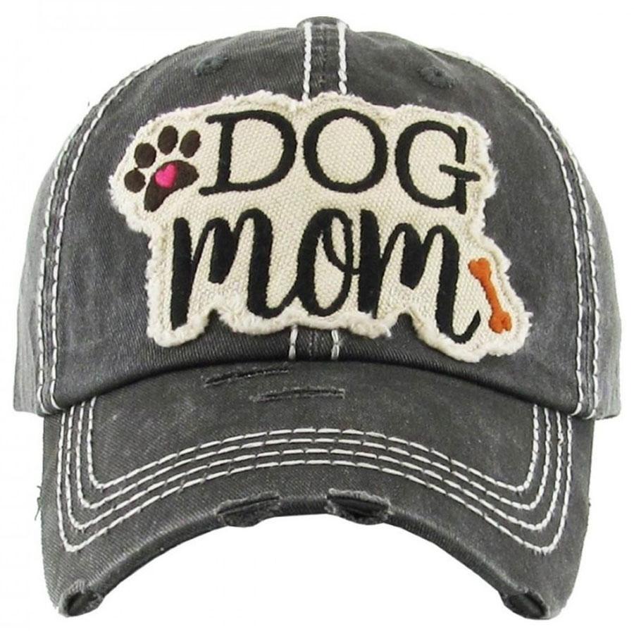 Dog, Mom, Black, Womens, Hat