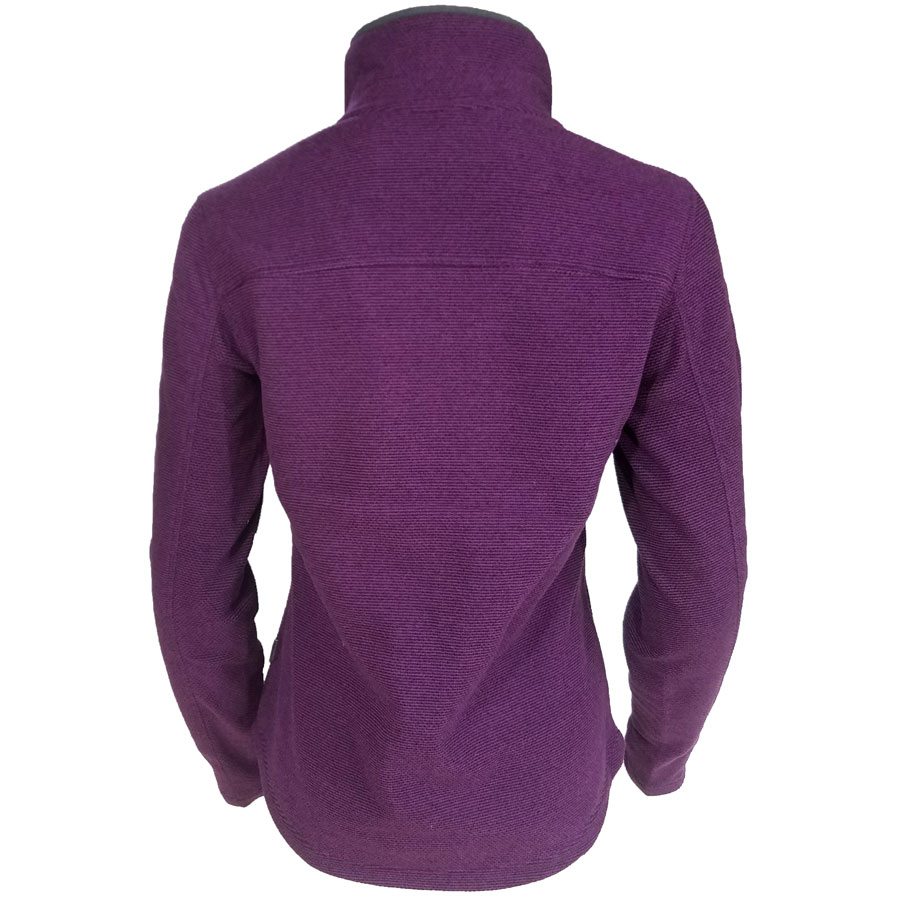 White, Sierra, Blacktail, Snap,Fleece, Pullover, Grape, womens