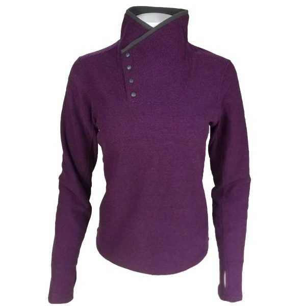 White Sierra Blacktail SnapFleece Pullover Grape
