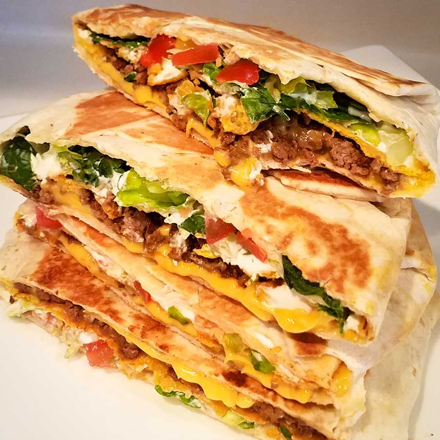 Crunch wrap, Taco bell, venison, mexican, taco, cast iron, nacho cheese, aldi shopping, crunchwrap, crunch wrap supreme, cooking