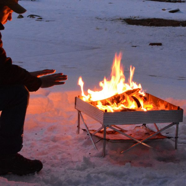 portable, campfire, ice fishing