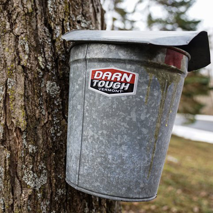 Darn Tough, maple syrup, bucket