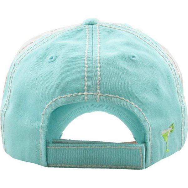 Mamacita, hat, back, blue