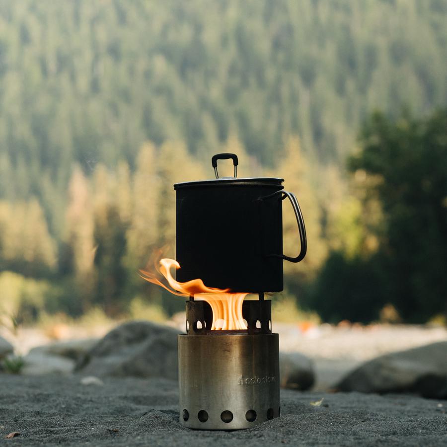 camp, cook, stove, hike, backpack