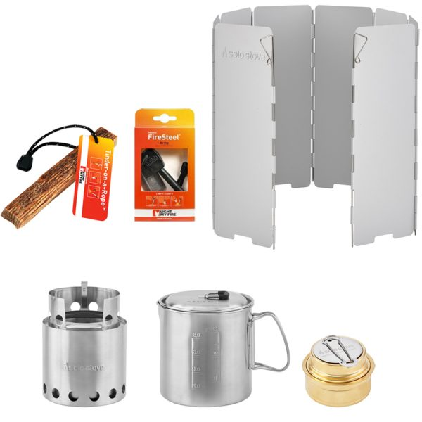 camp, cook, stove, hike, bundle