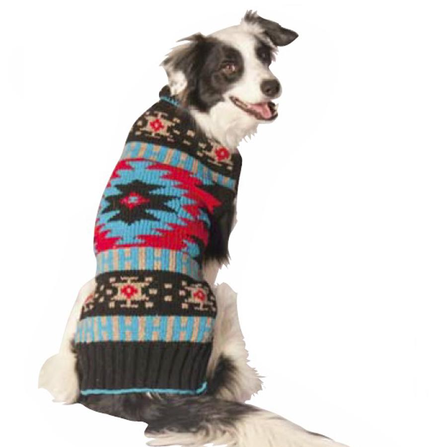 coat, jacket, warm, wool, Chilly-Dog--Black-Southwest-Shawl-Dog-Sweater
