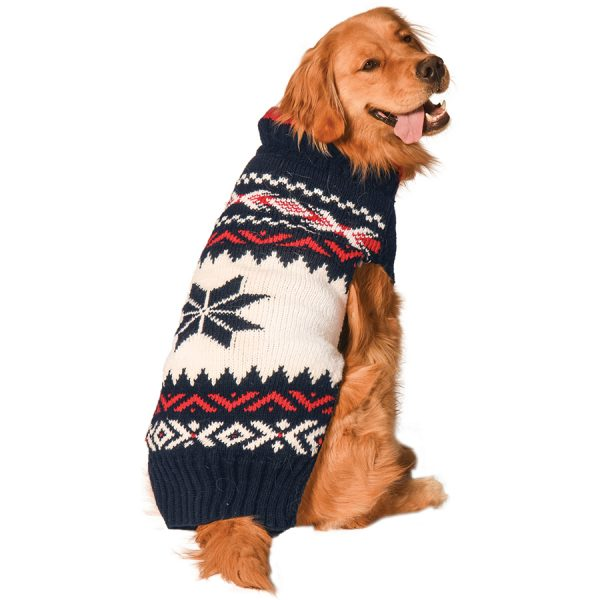 warm, dog, Chilly-Dog--Navy-Vail-Dog-Sweater
