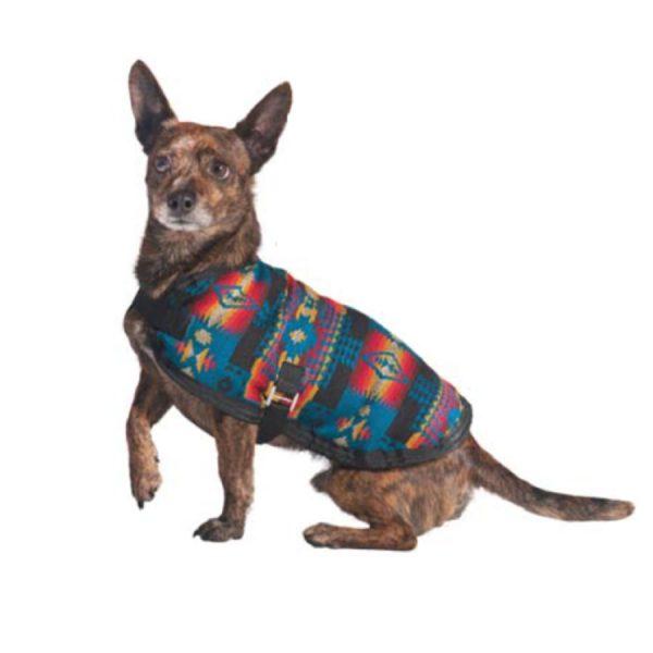 dog, jacket, blanket-Chilly-Dog-Turquoise-Southwest-Blanket