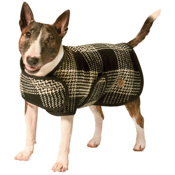 Chilly-Dog-CD_BlackWhite Plaid Coat-