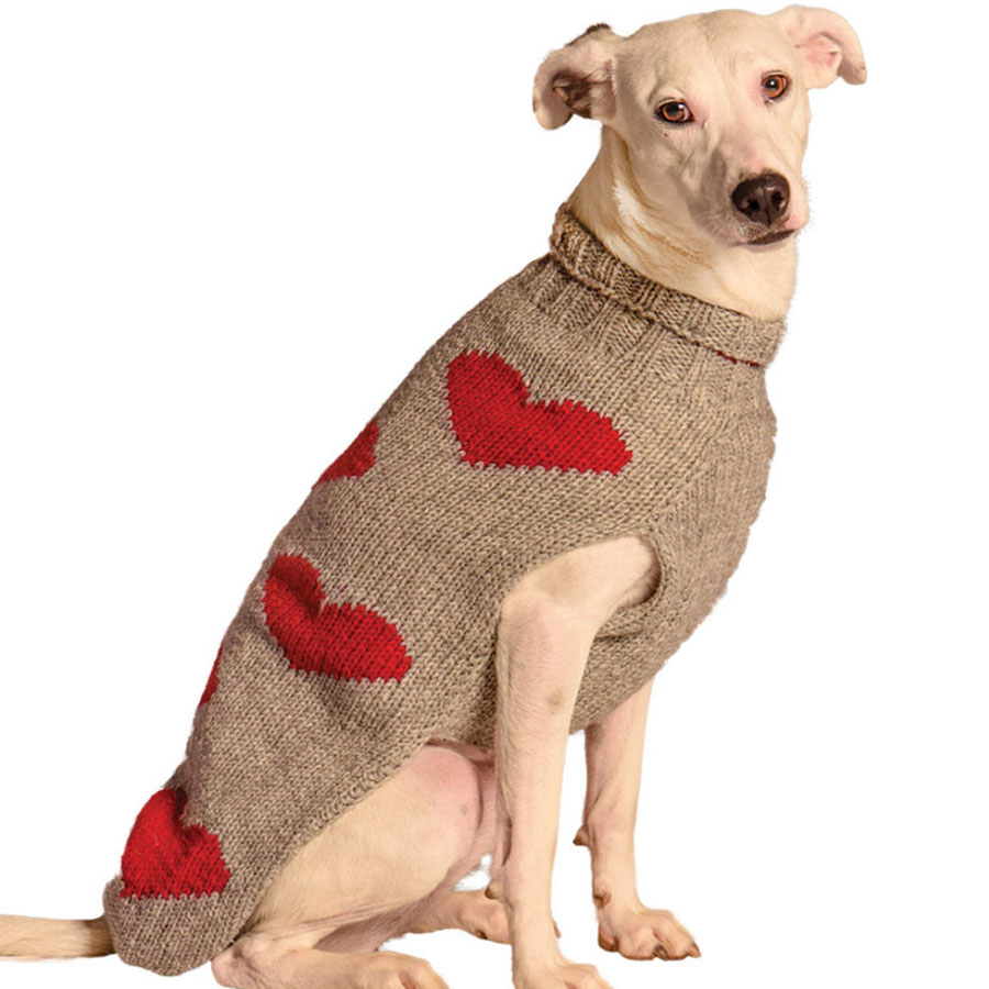 dog, love, hearts, Chilly-Dog-Red-Hearts-Dog-Sweater