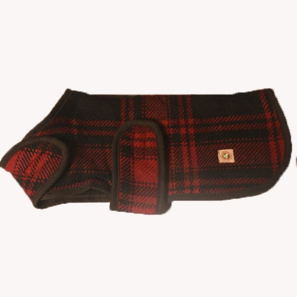 Chilly-Dog-Red-and-Black-Plaid-Blanket-Dog-Coat