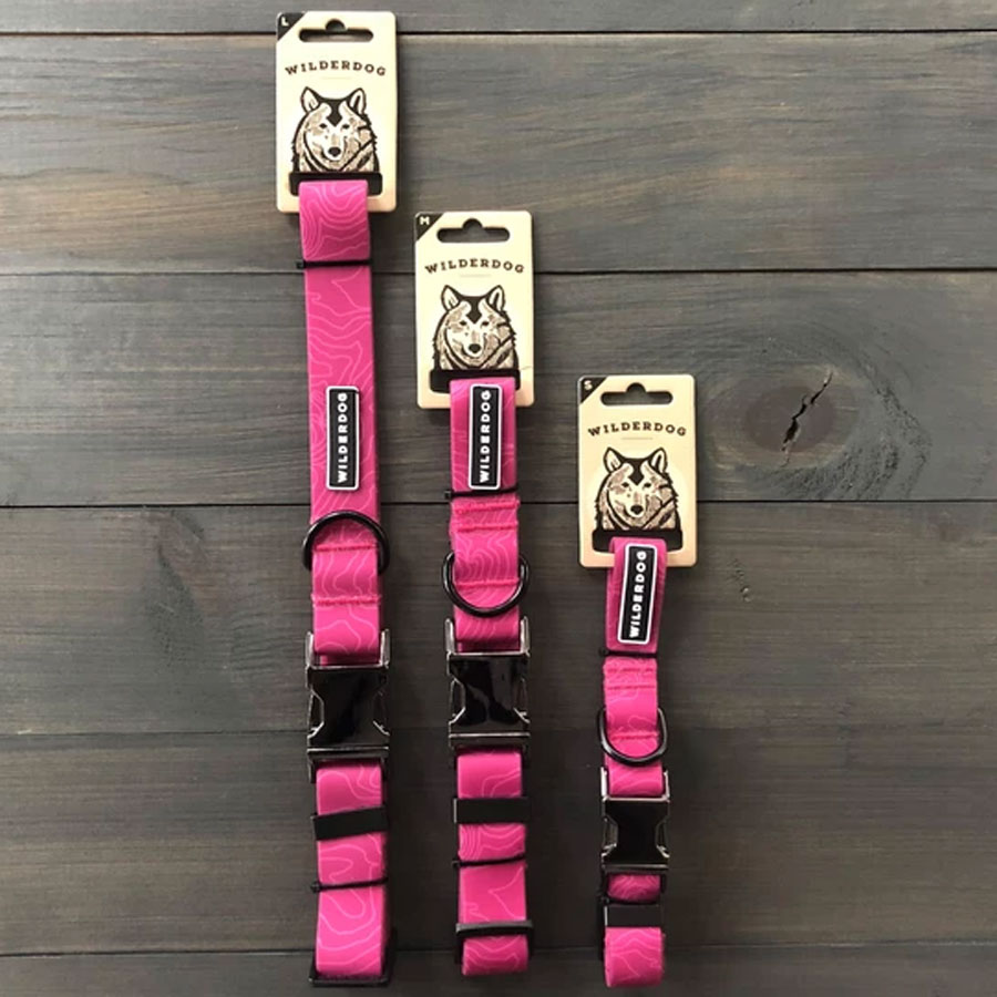 Pink plum colored waterproof collars by Wilderdog