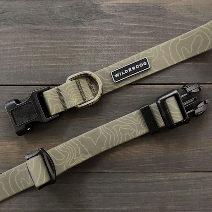 Olive waterproof collar by Wilderdog
