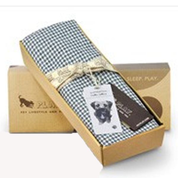 Houndstooth dog bed cover in LIGHT BLUE