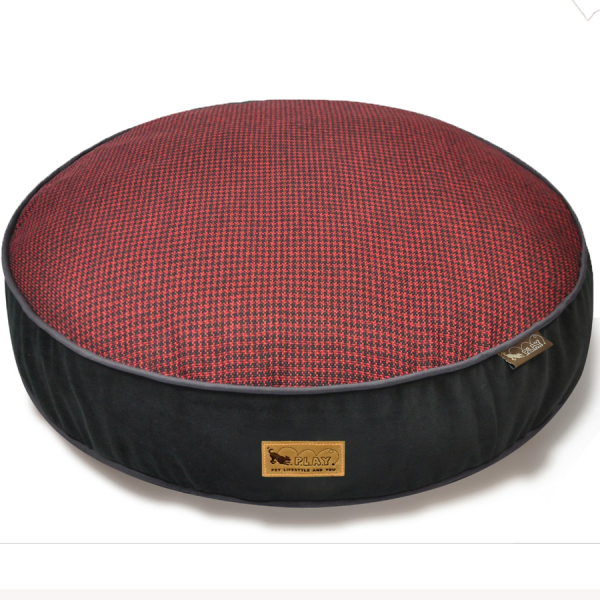 Houndstooth dog bed cover in CAYENNE RED