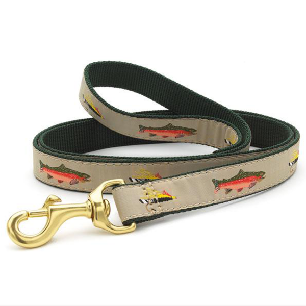 Trout and fly fishing dog leash