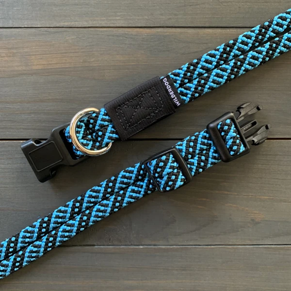Teton blue and black Range collection collars made of climbing rope