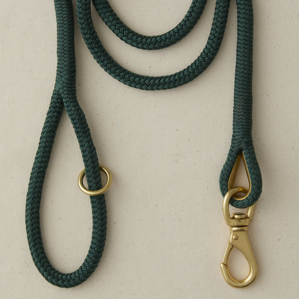 A marine boat rope leash Hunter Green