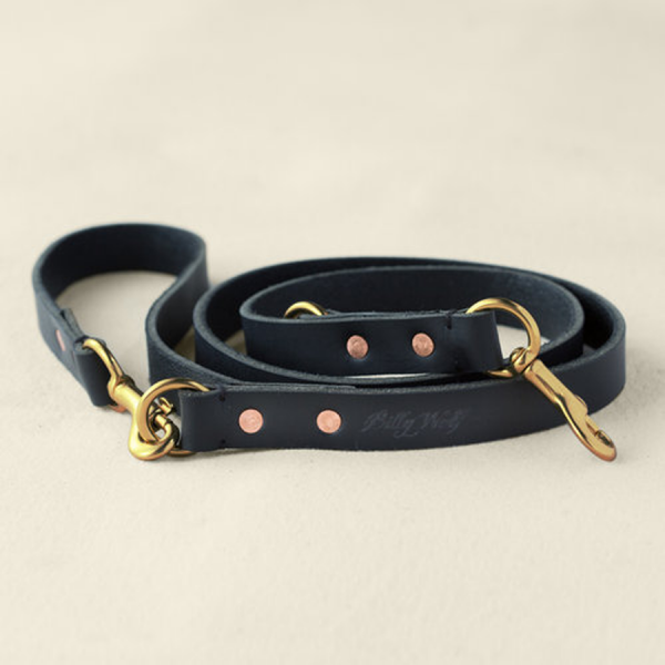 Billy Wolf Soot Rambler leather leash