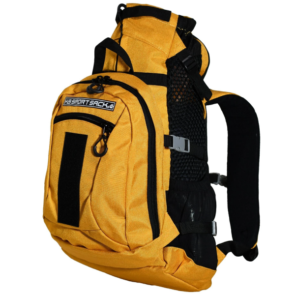Mustard Yellow carry doggie backpack plus storage