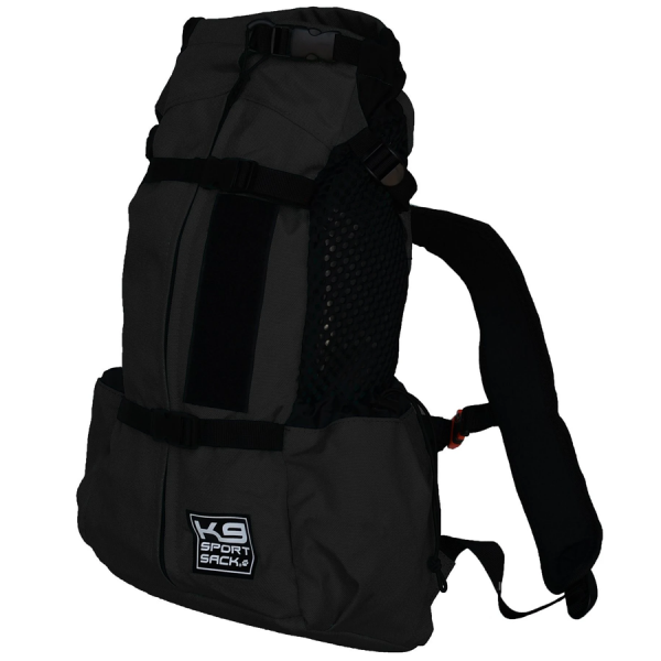 Black backpack to carry a dog AIR 2