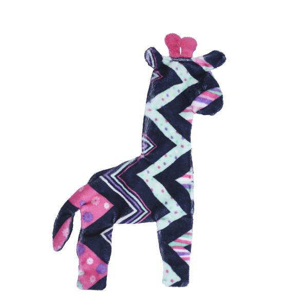 An un-stuffed giraffe toy for your dog