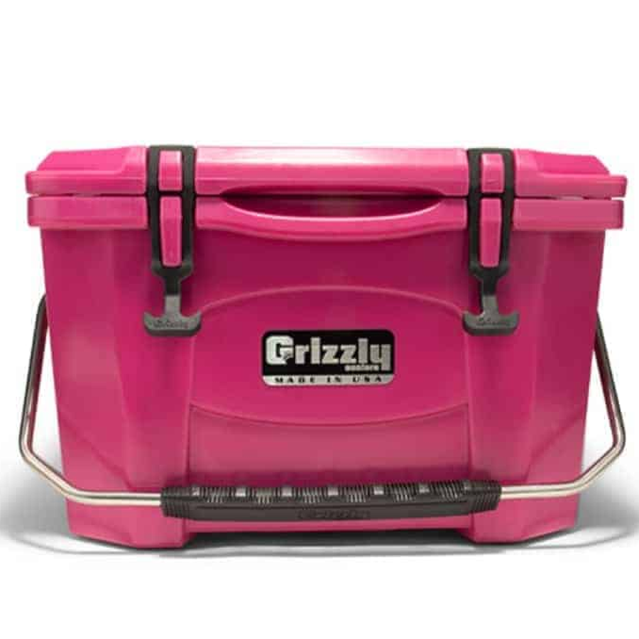 Grizzly Cooler 20 pink with handle