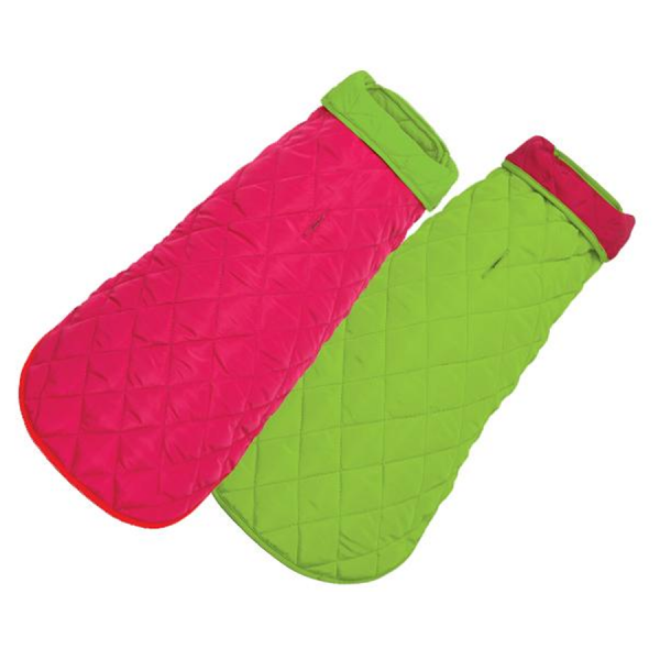 Quilted Coat Pink/Lime
