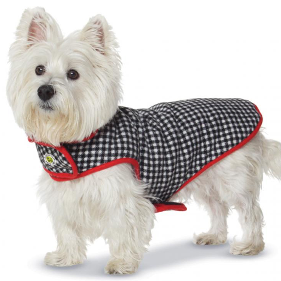 A checked coat for your dog