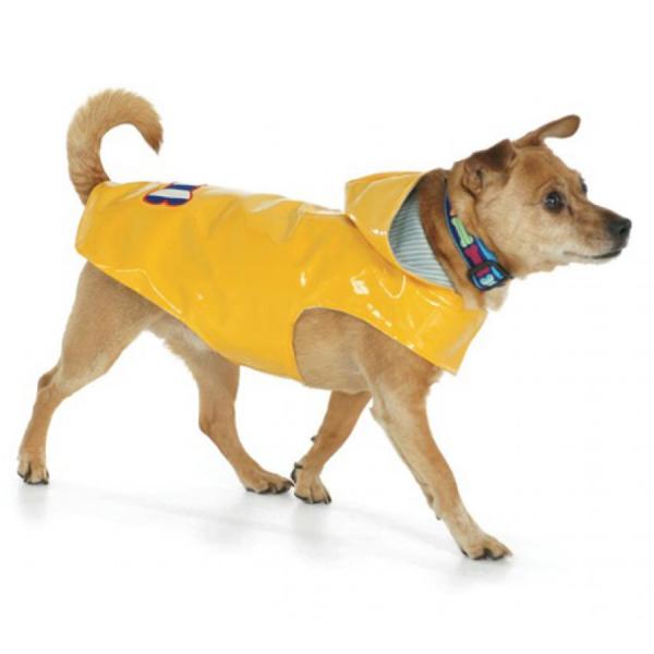 Yellow raincoat with bone decoration