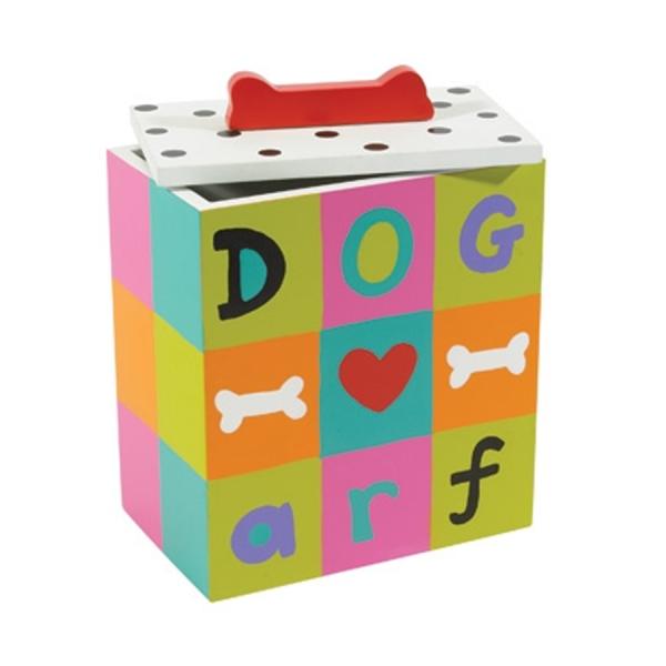 Colorful blocks dog treat box