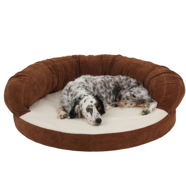 An orthopedic bed for dogs