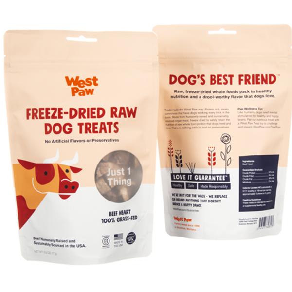 Beef Heart Dog Treat Bag