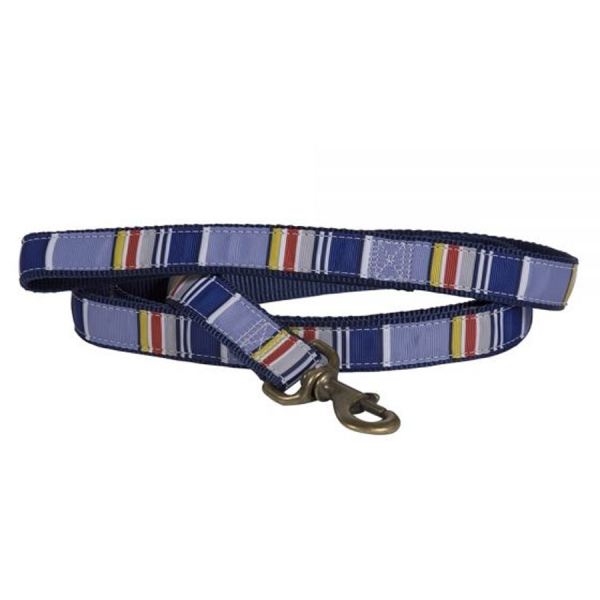 Yosemite National Park Hiker dog leash, blue with stripes