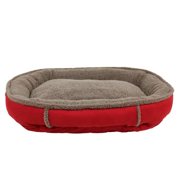 A round dog bed