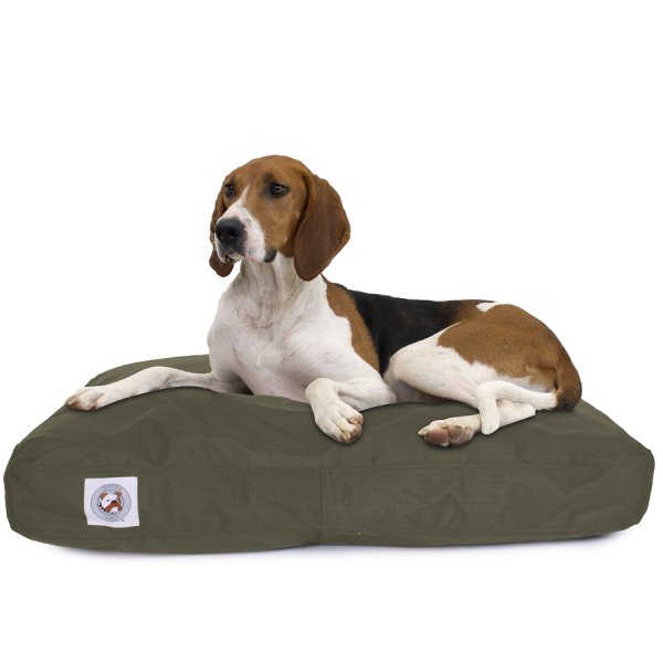 Dog on Brutus Tuff Napper heavy duty canvas waterproof bed